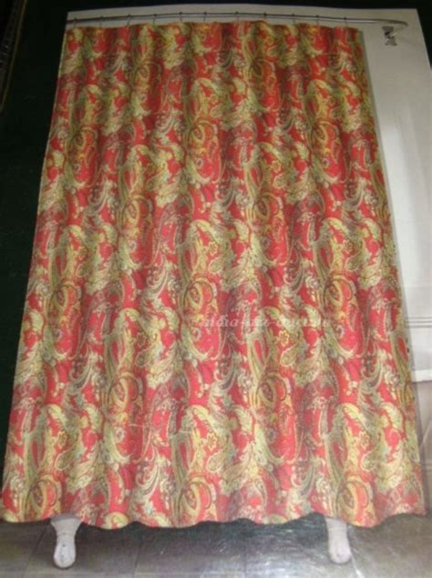 ralph lauren shower curtains new ralph lauren bath shower curtain paisley floral scroll