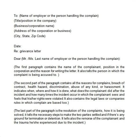 exle of formal grievance letter employment grievance letter template the letter sle