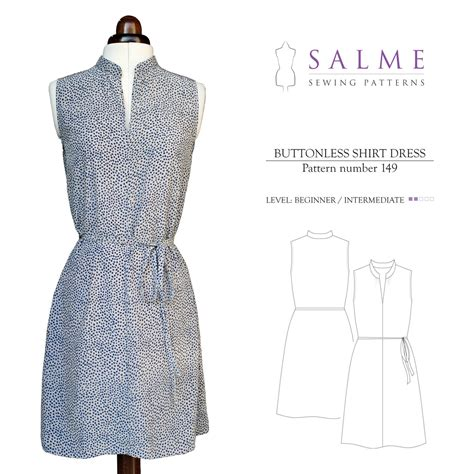 pattern cutting made easy review salme sewing patterns 149 buttonless shirt dress