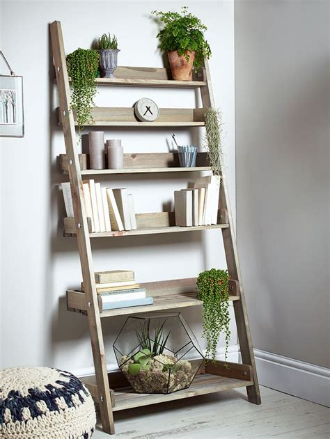 Wooden Shelf Ladders by 25 Best Ideas About Ladder Shelves On Leaning