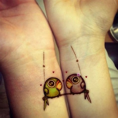 best friend tattoos on wrist best friends birds tattoos on wrists tattooshunt