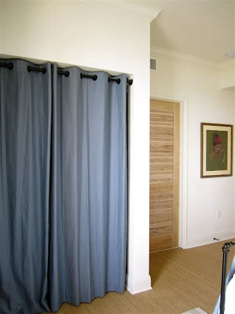curtain for closet grommet curtains instead of closet doors basement