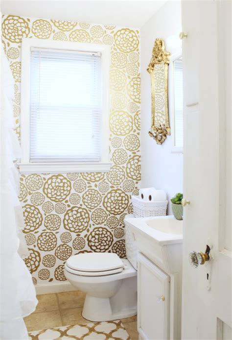 can you put wallpaper in the bathroom bathroom decorating small bathrooms without taking up