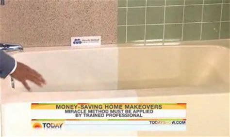 miracle method bathtub refinishing miracle method featured on the today show miracle method surface refinishing blog