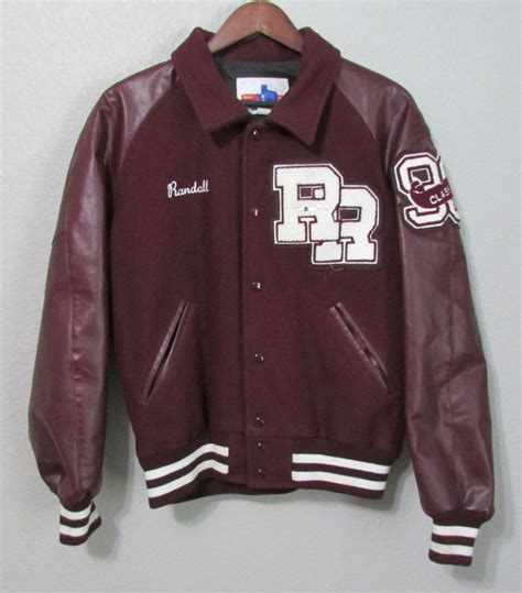 College Letter Jackets vintage high school varsity letterman jacket maroon white tx wool size xl ebay