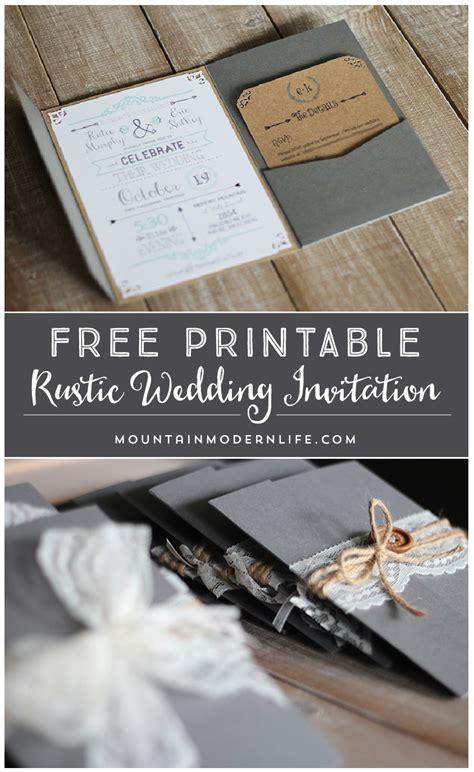 Wedding Invitations Free by Free Wedding Invitation Template Mountainmodernlife