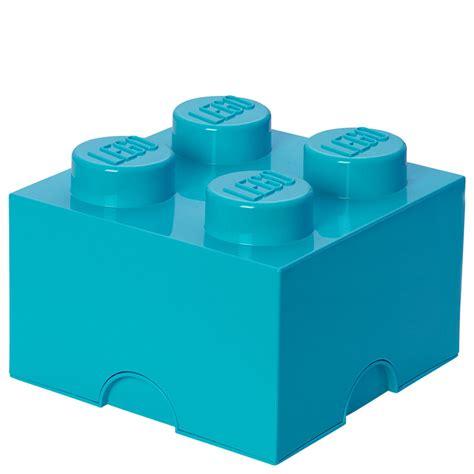 lego box lego storage brick box 4 medium azure new storage