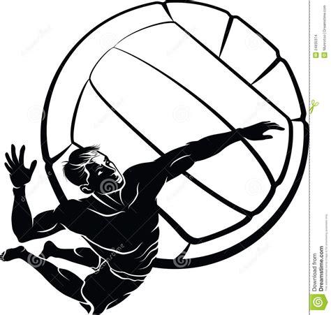 clipart pallavolo punto di pallavolo della spiaggia illustrazione vettoriale