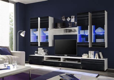 anbauwand modern wohnwand modern schwarz gispatcher