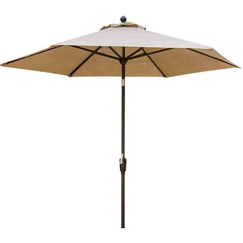11 Patio Market Umbrella With Tilt Hanover Traditions 11 Ft Aluminum Tilt Patio Umbrella In Oat Tradumb 11 The Home Depot