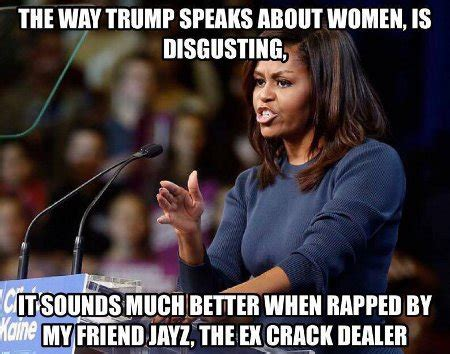 Funny Liberal Memes - michelle on trump reflections from a murky pond