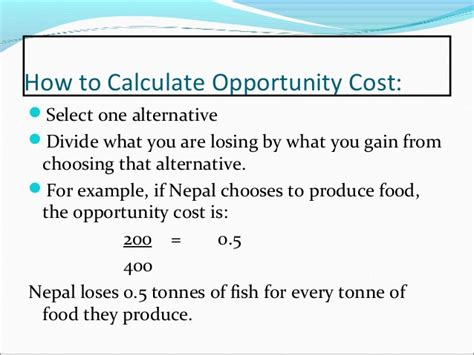 Mba Opportunity Cost Calculator by Comparative Vs Absolute Advantage