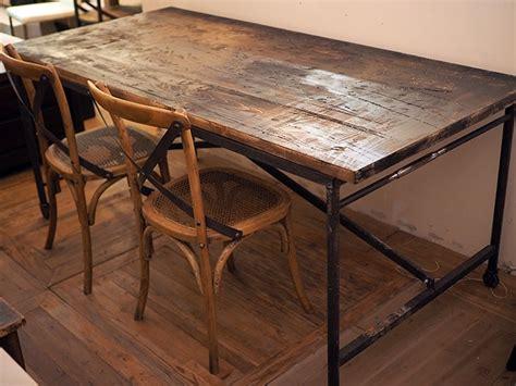 tavolo legno massello grezzo tavolo industrial vintage legno massello sessham con