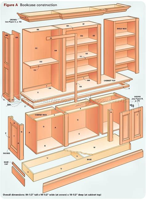 bookcase plans woodworking bookcase plans 20 images bookcase
