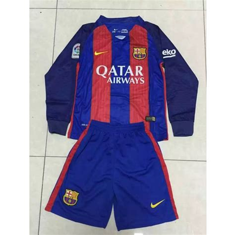 Jersey Barca Home Ls barcelona home 2016 17 ls socer jersey shirt shorts sparta7
