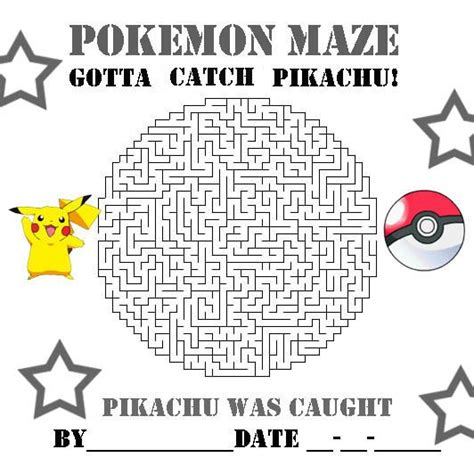 printable pokemon activity sheets pokemon maze printable images pokemon images
