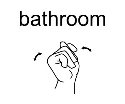 I Need To Use The Bathroom In Sign Language Shine Be The You Really Are