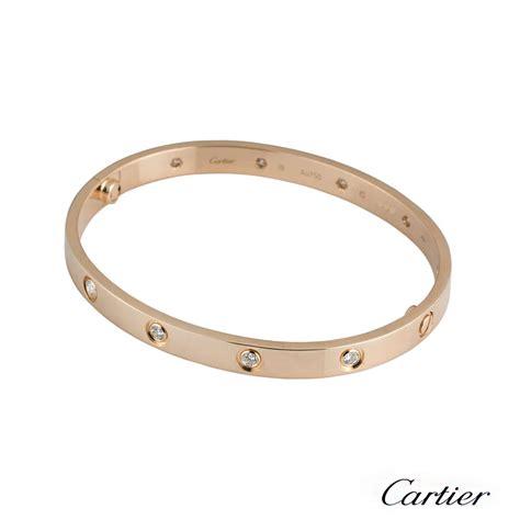 cartier gold bracelet size 19 b p