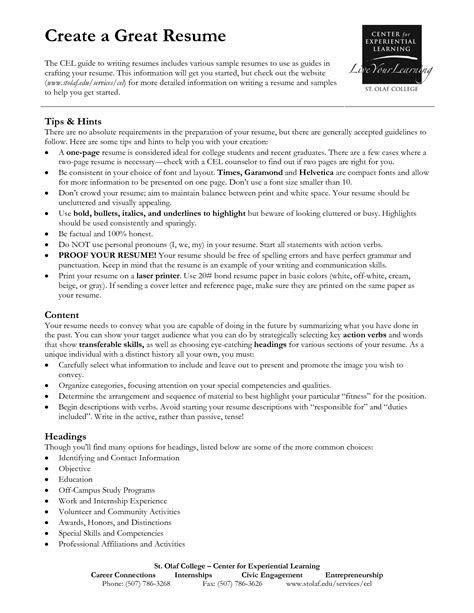 9 best images of great resume examples great resume