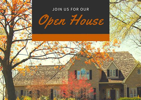 open house real estate invitation postcard templates by