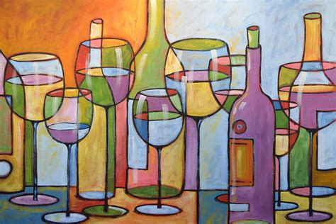 kitchen paintings abstract wine dining room bar kitchen art time to relax painting by amy giacomelli