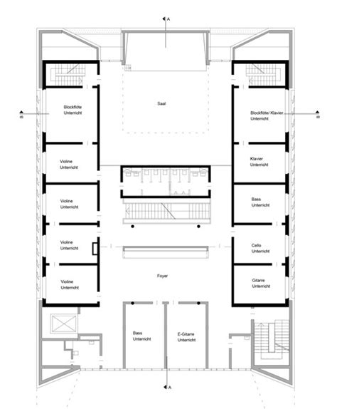 middle school floor plans find house plans public music school wulf architekten archdaily