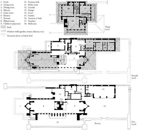 robie house floor plan frank lloyd wright plan of the robie house chicago illinois 1907 1909 history 1900