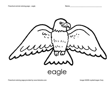 Eagle Coloring Pages Preschool | united states symbols coloring pages preschool eagle