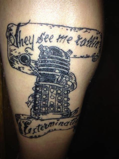 dalek tattoo designs hilarious dalek indelible ink ideas