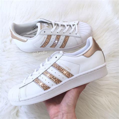 adidas originals superstar white gold with swarovski 174