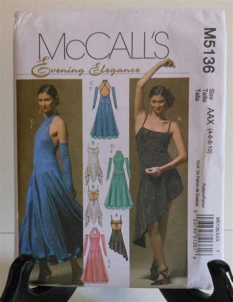 pattern latin dress salsa dance style dress sewing pattern uncut mccall s