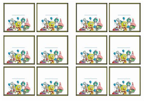 printable spongebob birthday decorations spongebob name tags birthday printable