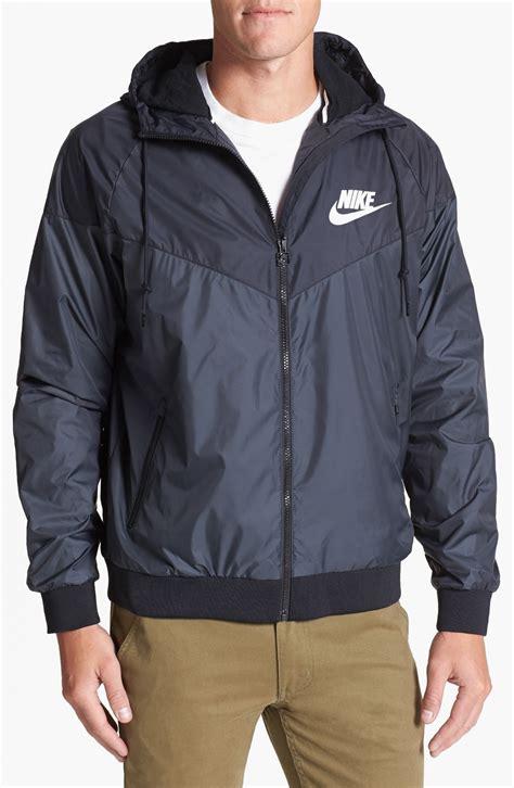 Jaket Nike Parasut Windrunner Grey nike windrunner hooded jacket in blue for lyst