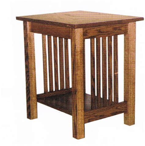 mission style accent table mission style end table ohio hardwood furniture