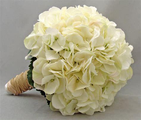 bridal bouquet white silk hydrangea groom s boutonniere