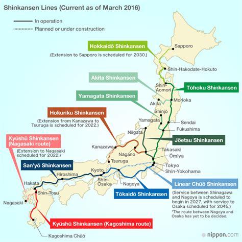 shinkansen map shinkansen route map nippon
