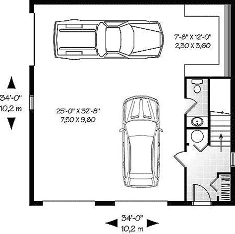 3 car garage size 3 car garage with storage 21691dr bonus room cad