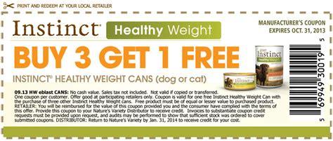 healthy food printable coupons instinct healthy weight dog food printable coupons