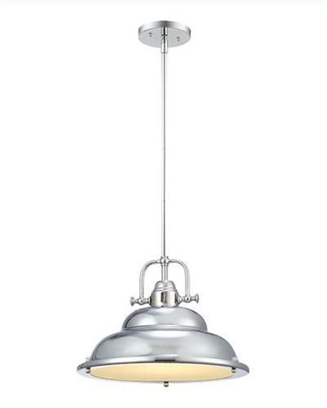 soho 1 light 60 5 quot chrome pendant at menards kitchen