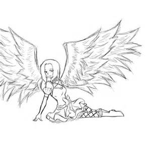 anime female angel coloring pages