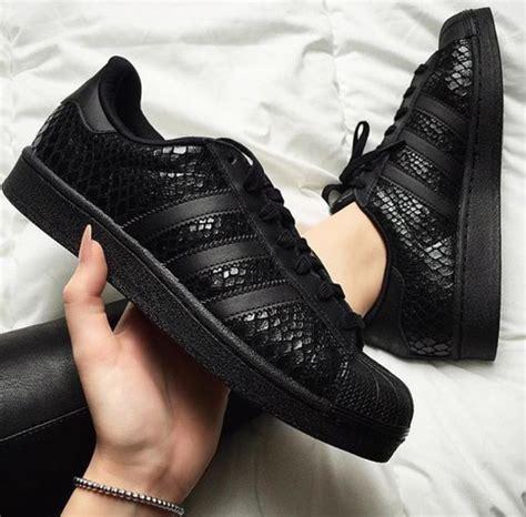 Shoes: adidas black, adidas, adidas shoes, adidas originals, adidas superstars, black, adidas