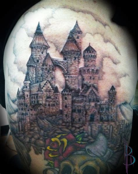 castle tattoo by greyfoxdie85 on deviantart