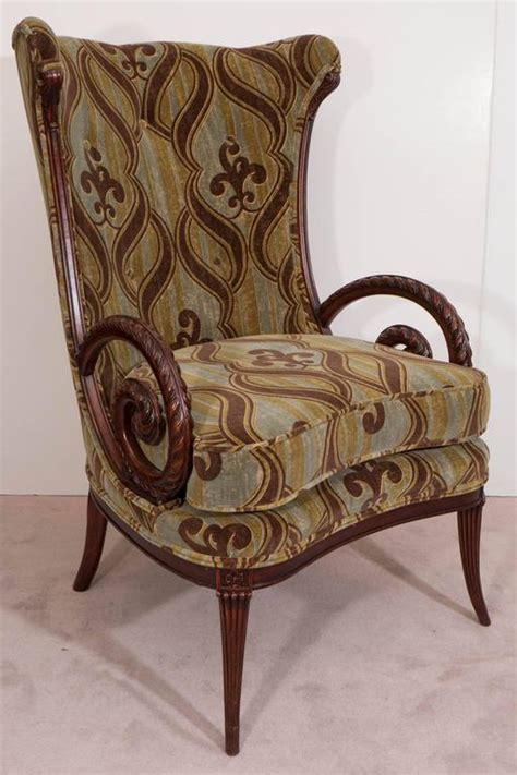 mid century grosfeld house mahogany armchair with william