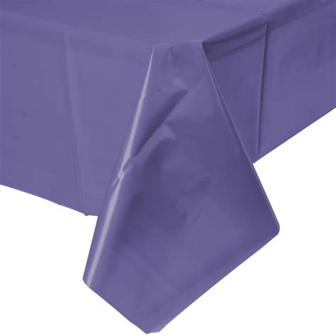 plastic table cover creative converting 01287b 54 quot x 108 quot purple disposable