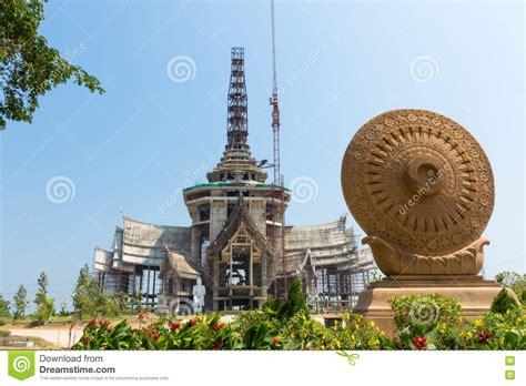 construction of buddhist symbol royalty free stock image
