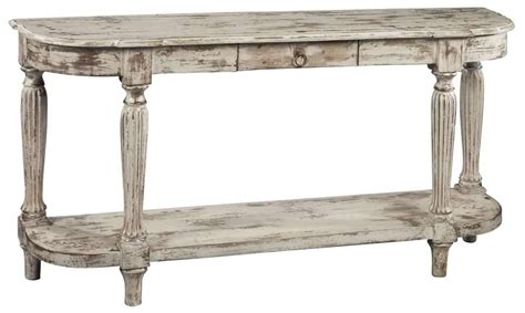 white distressed sofa table hekman antique heavily distressed white console table