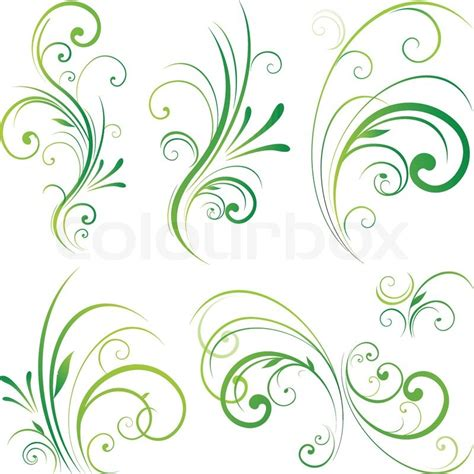 Design Decorative by Floral Dekorative Wirbelt Stock Vektor Colourbox
