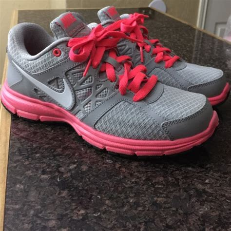 55 nike shoes nike gray and neon pink tennis shoes
