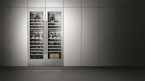 Kitchen Cabinet Showrooms by Wine Climate Cabinets Gaggenau