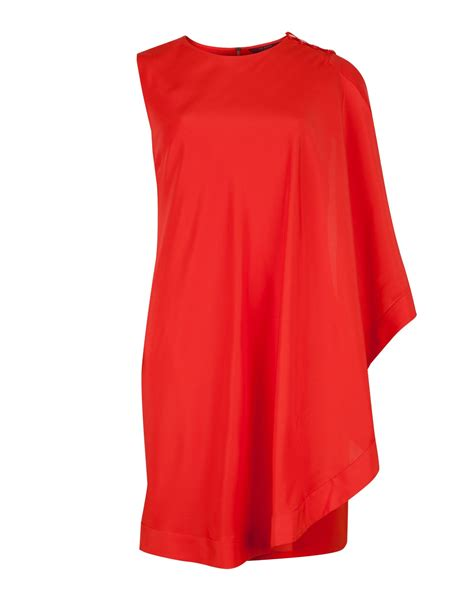 draped tunic ted baker bolty asymmetrical draped tunic in red orange